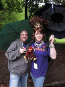 Empress Witti and Prince Ian Flagrante with Doug d'Turkey walking in the AIDS Walk in 2011.