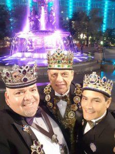 Emperor I Fidel Morin, Emperor II Ken Dennis and Emperor III Miguel Diego of Washington DC